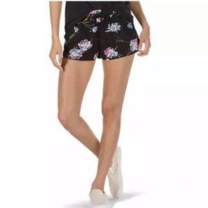 VANS l Janek ll Black Floral Shorts NWT Size M
